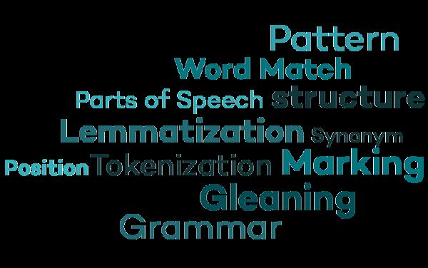 チャットボットの文法。グラマー。スピーチのパーツ